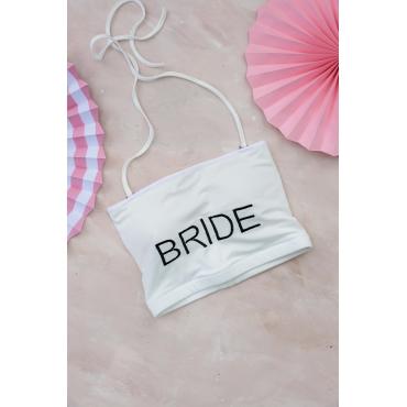 Bride Nakış İşlemeli Crop Top