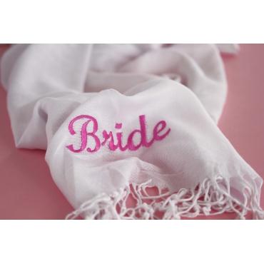 BRIDE NAKIŞ İŞLEMELİ PAŞMİNA ŞAL