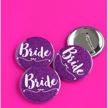 BRIDE MOR PIRILTI DETAYLI İĞNELİ ROZET