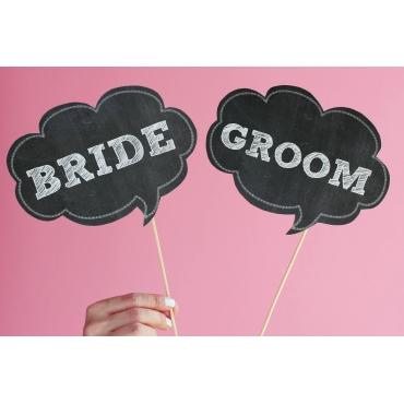 BRIDE-GROOM DETAYLI EL PANKARTI