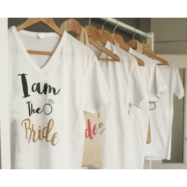 I'M THE BRIDE BASKILI GELİN T SHIRT