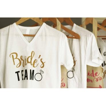 I'M THE BRIDE BASKILI GELİN T SHIRT