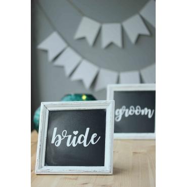 BRIDE-GROOM BASKILI AHŞAP ÇITALI PANO TAKIMI
