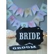 BRIDE-GROOM BASKILI İPLİ KARTON LEVHA TAKIMI