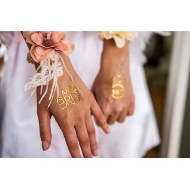 BRIDE TEAM PIRILTILI DORE RENK GEÇİCİ DÖVME